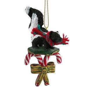 Amazon.com: Skunk Candy Cane Christmas Ornament: Home & Kitchen