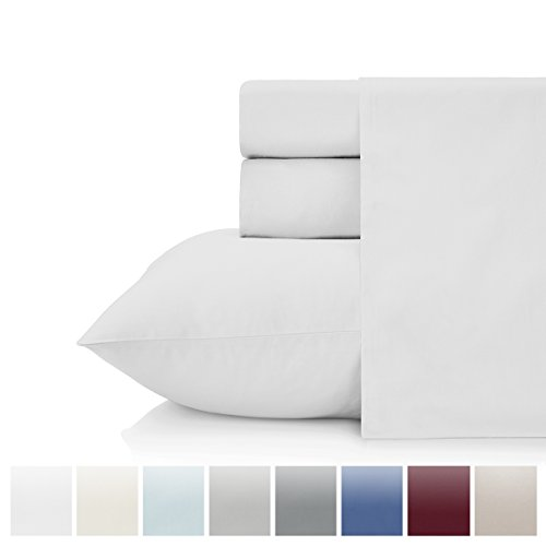 KRISTEX Bedding Set 500 Thread Count 100% Cotton Sheet Set Sateen Weave Twin sheet 500 TC Bed Sheet Pure Natural Cotton sheet Hotel Collection White