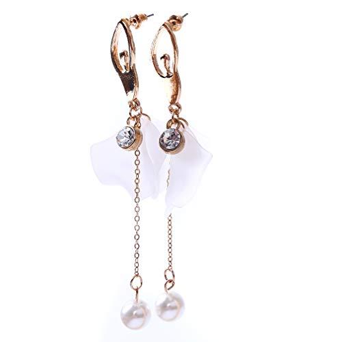 GloryMM Ballet Tassel Earrings Faux Pearl Long Pendant Drop Earrings Ballerina Princess Dangle -