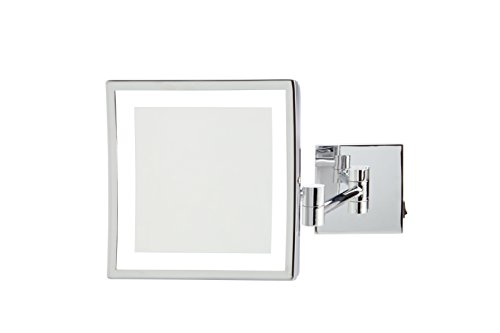 Jerdon JRT885CLD 8'' x 8'' LED Lighted Wall Mount Mirror, Direct Wire by Jerdon