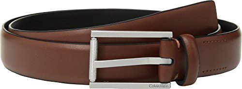 Calvin Klein Men's 30MM FE Panel, Dark Cognac, 36 by Calvin Klein