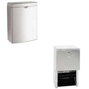 kitbob270bob2888 - Value Kit - Bobrick Contura toalla sanitaria receptáculo (bob270) y classicseries (multi-roll dispensador de papel higiénico (bob2888): ...