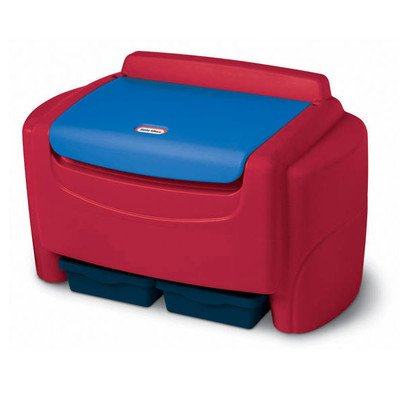Sort 'n Store Toy Box Finish: Red (Little Tikes Toy Chest)