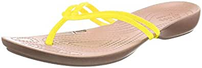 Crocs 204004 Crocs Isabella Flip - 702 Lemon/Gold (Yellow) Womens Sandals 3 UK