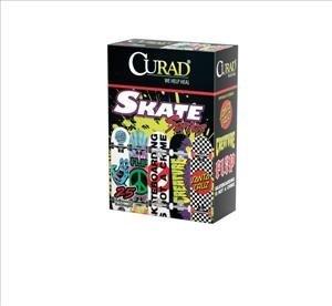 CUR47077T - Medline CURAD Skateboard Adhesive Bandages,Skateboards