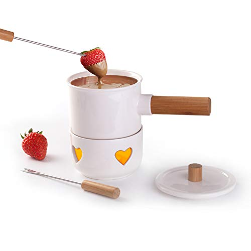 Mini Chocolate Fondue Set - Sunbright Fondue Pot for Chocolate, Cheese - Ideal for Outdoor Party, Women Gifts