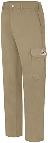 Bulwark Mens Lightweight FR Cargo Pant Khaki 33W x 34L