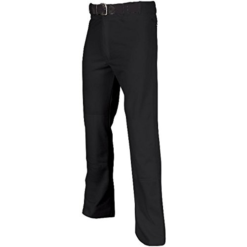 CHAMPRO Adult MVP Open Bottom Relaxed Fit Baseball Pant Black