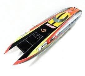 (DishyKooker 1122 Catamaran Racing Boat/Electric Brushless RC Boat Fiberglass with 3674 brushless Motor KV207, 125A ESC with BEC Orange)