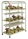 Grow Light Cart on Wheels, 3-Tier