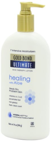 Gold Bond Ultimate Healing Skin Therapy Lotion for Dry Skin, Aloe, 14 Ounce Pump