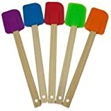 Proctor Silex Set of 5 Silicone Spatulas with Wood Handle 08550