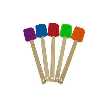 Proctor Silex Set of 5 Silicone Spatulas with Wood Handle 08550 by Procter Silex (Image #1)