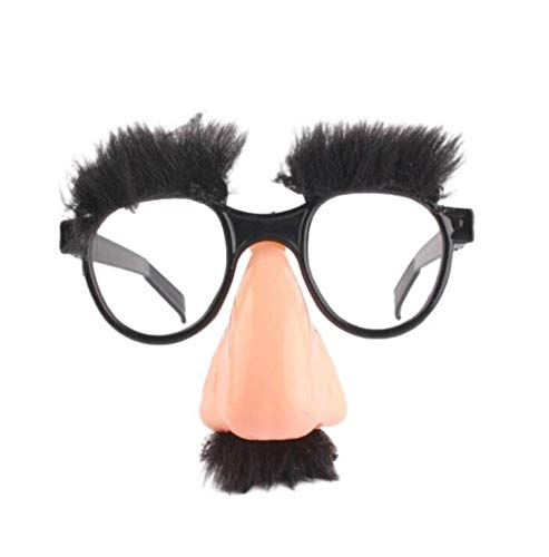 Creative Home Supplies Big Nose Funny Glasses Halloween Decor Party Costume Prop Mustache Clown Show Accessories Tricky Toy Deserve to Buy ()