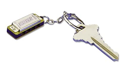 Hohner108 Mini Harmonica, Key Chain, Key Of C Major