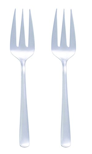 HIC Harold Import Co. Stainless Steel Serving Forks, 10-Inch, Set of 2