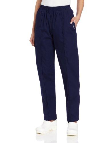 Classic 8320 Fit Pant - Landau Women's Plus Comfortable 2-Pocket Classic Fit Medical Scrub Pant Uniform, Patriot Blue, 2X-Large Petite