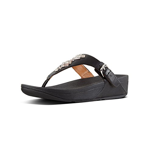 Donna Fitflop Tm Crystal Nero Toe thong 001 Infradito Sandals Skinny black qTTZUfw0x