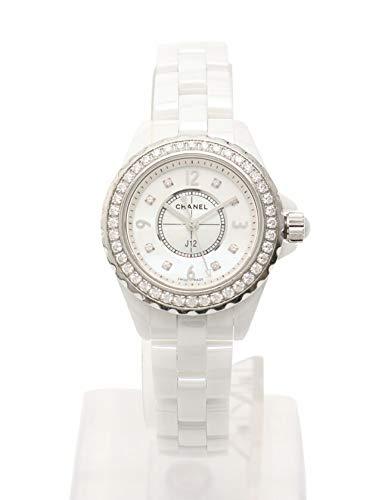 d0621dac6132 Amazon | (シャネル) CHANEL J12 29mm 腕時計 レディース ホワイトセラミック クオーツ SS 白 シルバー ベゼルダイヤ  8Pダイヤ シェル文字盤 H2572 中古 | レディース ...