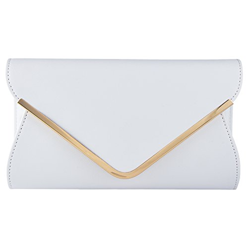(Bagood Leather Envelope Clutches Bag for Women Evening Handbags Shoulder Bags)