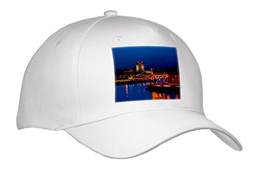 3dRose Alexis Photography - Moscow City - Moscow River and City In The Evening - Caps - Adult Baseball Cap (River City Cap)