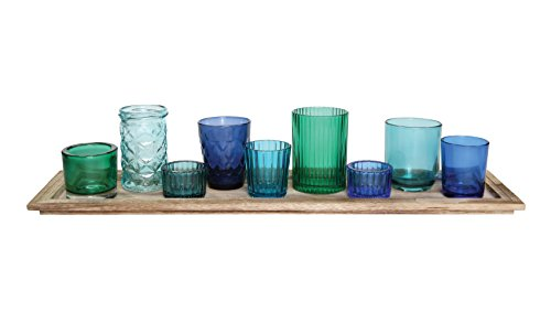 Creative Co op Glass Candle Holders