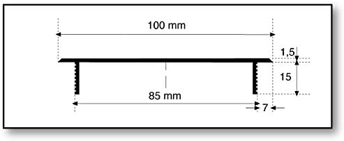 aluminio, acero inoxidable, 100 x 500 mm Rejilla de ventilaci/ón Lienbacher