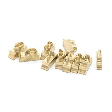 YUNSHINE Multi-Function Digital 110V Foil Hot Stamping Machine Logo Embossing Brass Alphabets Letters Label Bronzing Machine Leather Wood Stamp Embosser Tool Set (Numbers 0~9)