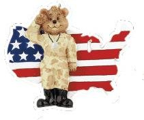6048 Army Bear Personalized Christmas Ornament ()