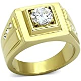 ISADY - Mathieu - Men's Ring - stainless steel - Cubic Zirconia Clear