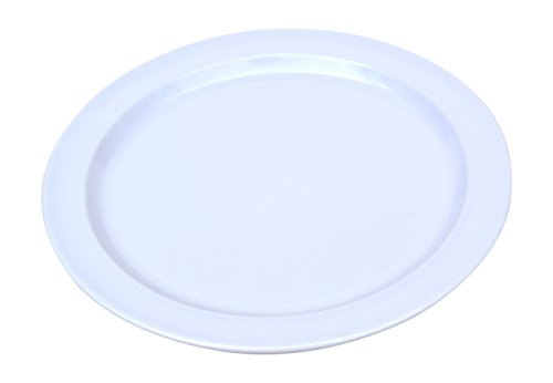 - Clipper Commercial 12 Pack Set - Melamine - Narrow Rim Dinner Plate, White - 9 Inch - 315-90209