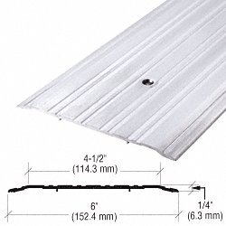 6'' Aluminum Commercial Saddle Threshold - 185'' Length