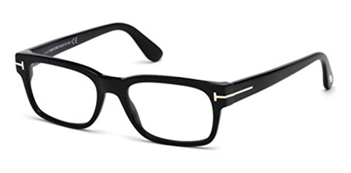 Tom Ford Men's Eyeglasses TF5432 TF/5432 001 Shiny Black/Gold Optical Frame - Tom Ford Male