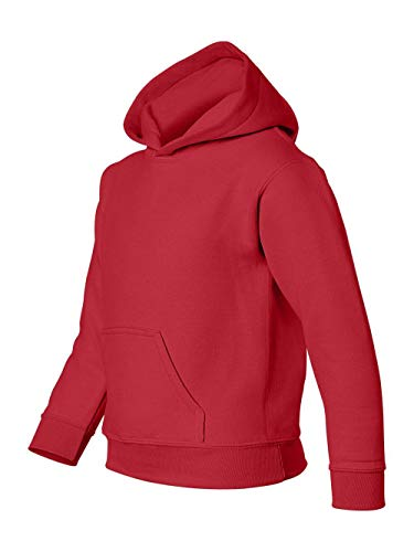 Heavy Blend Youth Hooded Sweatshirt, Color: Red, Size: Medium ()