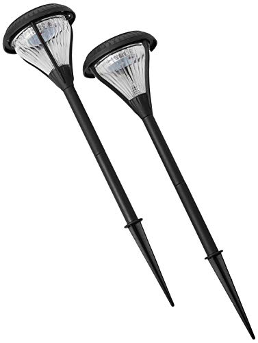 Gama Sonic GS-139-2PK Premier Pathway and Garden Outdoor Solar Landscape Accent Light, 2-Pack, ()