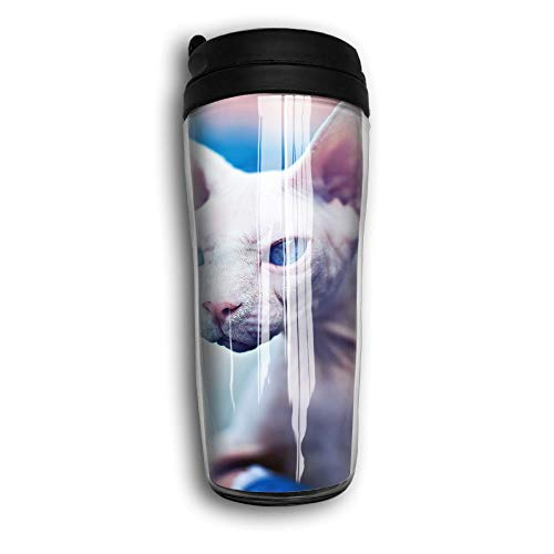 Bad Kitty Picture Travel Mug Coffee Thermos Stainless Steel Flask Water -