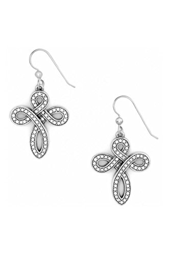 Brighton Knottingham Silver Cross French Wire Earrings