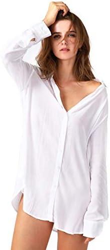 TOUSYEA Nightshirts Sleepshirt Boyfriend Sleepwear product image