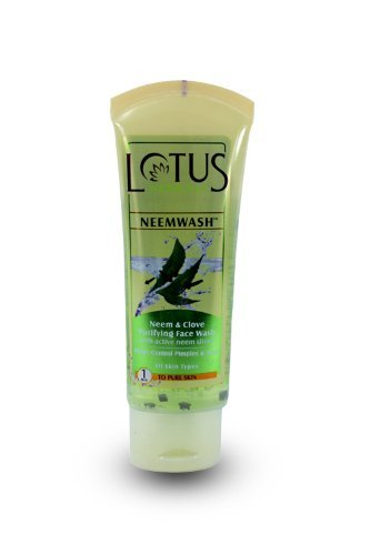 Lotus-Herbals-Neemwash-Neem-and-Clove-Ultra-Purifying-Face-Wash-with-Active-Neem-Slices-Expedited-International-Delivery-by-USPS-FedEx