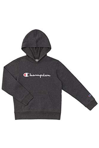 Champion Kids Clothes Sweatshirts Youth Heritage Fleece Pull On Hoody Sweatshirt with Hood (X-Large, Heritage Oxford Heather)