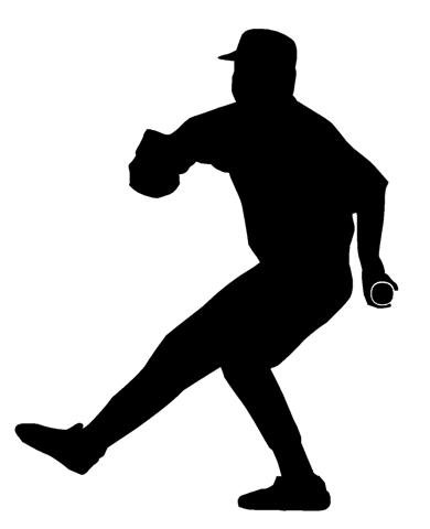 amazon com baseball pitcher silhouette decal sticker peel and