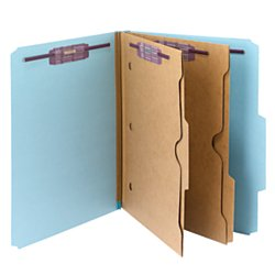 Smead Pressboard Classification File Folder with Pocket-Style Divider and SafeSHIELD Fasteners, 2 Dividers, 2