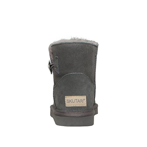 Gefüttert Sohle Schuhe Warm Schlupf SKUTARI Winter Diamant Pailletten Damen mit Knopf Stabile Boots Wildleder Stiefel Bling qwHxXUAvpx