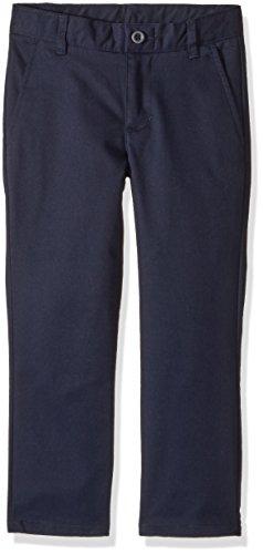 Nautica Boys' Flat Front Twill Double Knee Pant,Navy,5 (Twill Dress)