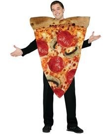 Men's Pizza Costume (Morris Costumes Pizza Slice Costume - One Size - Chest Size 48-52)