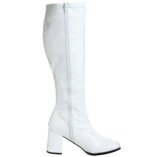 Pleaser Gogo 300wc, Botines para Mujer Blanco
