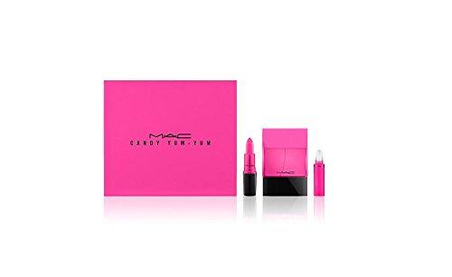 (MAC Candy Yum Yum ShadeScents 3 PC Kit: Matte Lipstick + 1.7 oz Eau de Parfum Spray + .10 oz Rollerball)