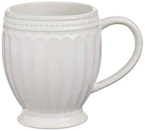 Lenox French Perle Groove White Mug, Set of 4