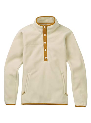 Burton Anouk Pullover Fleece, Bone White, Medium