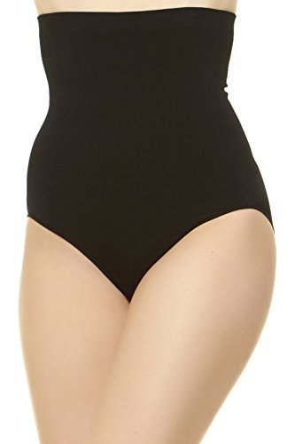 Unique Styles Womens Slimming High Waist Shapewear Tummy Control Panty Brief (Large, Black)